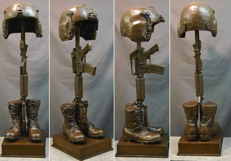 famous bronze army soldier garden statue fallen soldier garden statue for sale