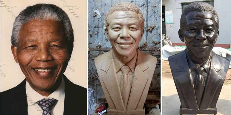 famous bust Nelson Rolihlahla Mandela Bust Statue Replica