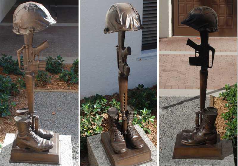 famous fallen soldier memorial statue battlefield cross memorial for garden