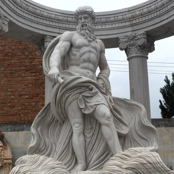 famous marble poseidon statue in trevi fountain for sale