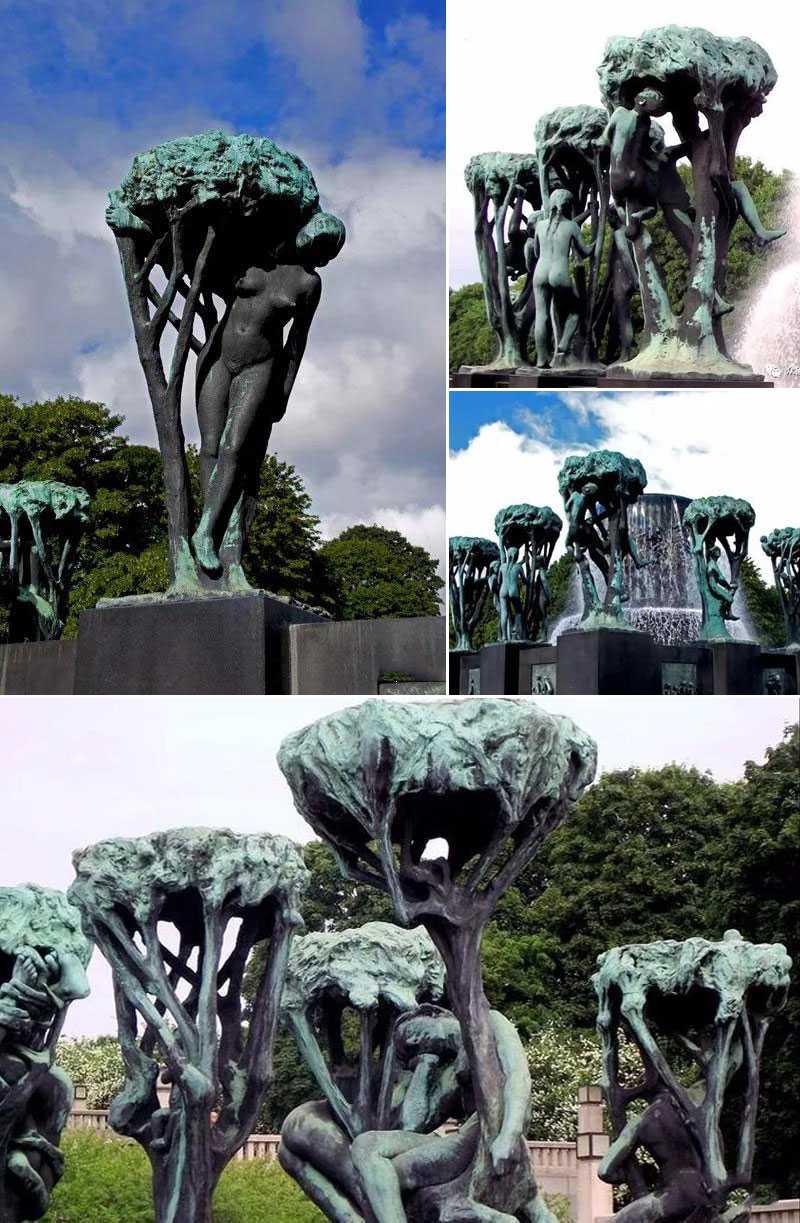 famous sculpture park Vigeland Sculpture Park