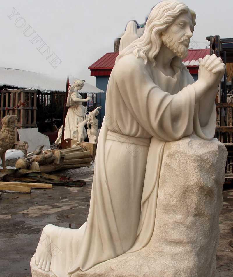jesus statue outdoor kneeling statue for sale