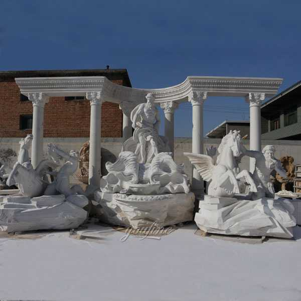 The World Largest Marble Outdoor Water Fountain Italian Trevi Fountain Replica For Sale–MOKK-01