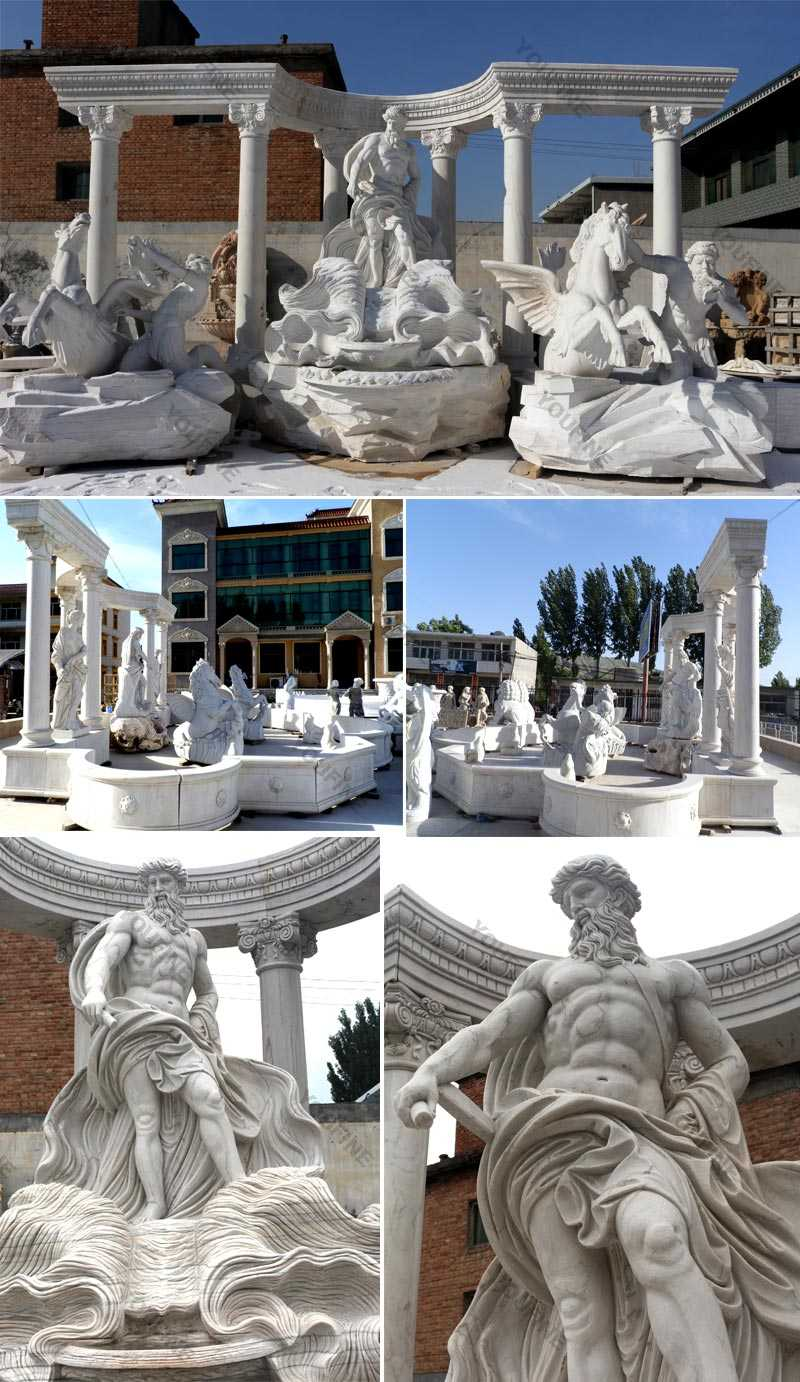 large marble water fountain marble Trevi water fountain replica