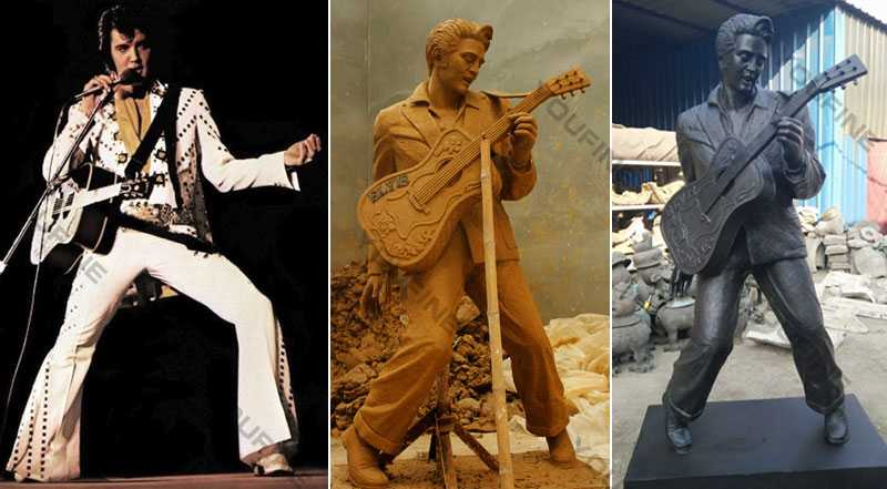 life size bronze custom music super star elvis presly statue for sale