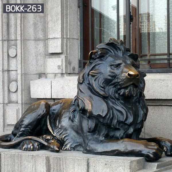 life size bronze lion statue for sale