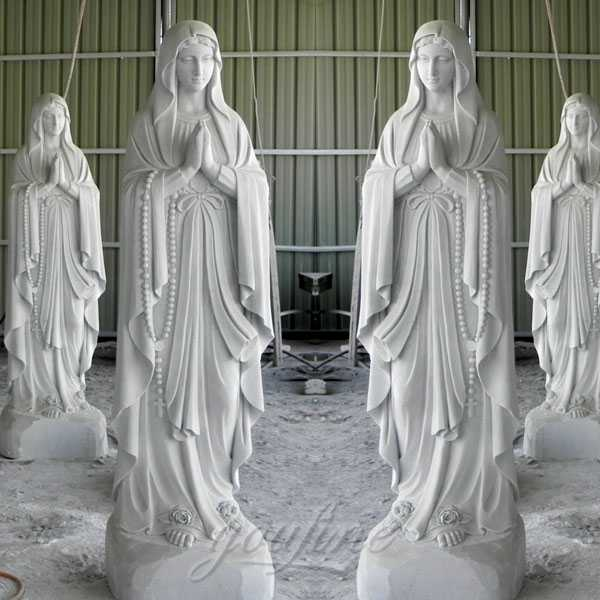 life size marble religious blessed our lady of lourdes statue for sale