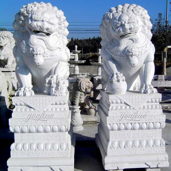 Chinese Foo Dog Front Building Outdoor Guardian Lion
