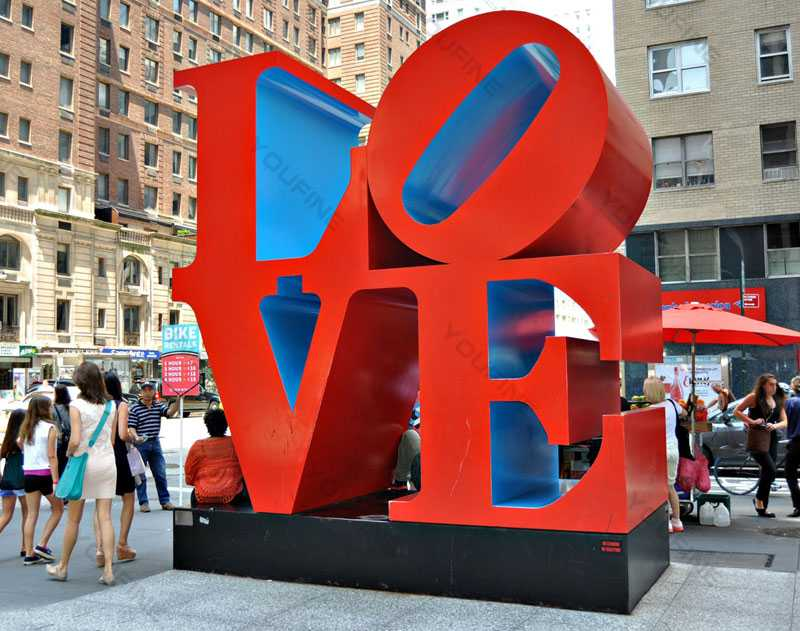 metal art love sculpture font design for sale