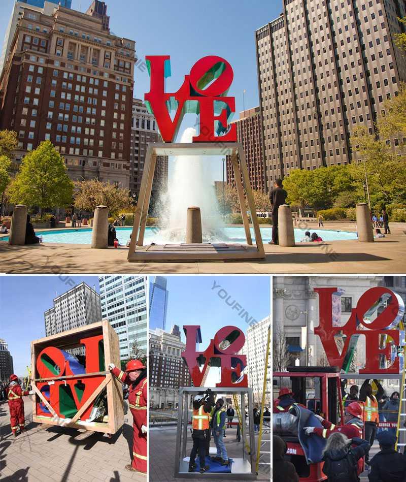metal-art-sculpture-love-sculpture replica-for-sale