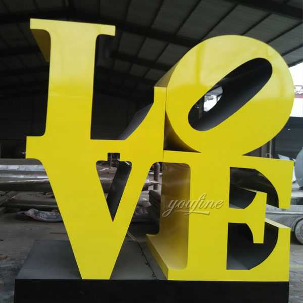 metal sculpture love sculpture font design for sale
