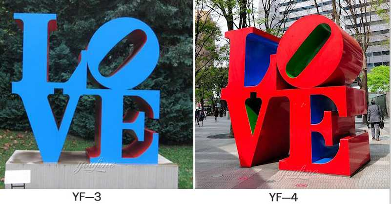 mirror sculpture love statue replica for sale