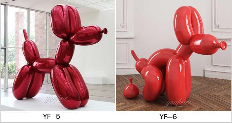 modern metal ballon dog sculpture for sale