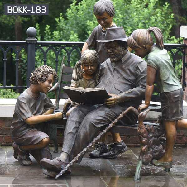 outdoor decoration bronze figure statue for garden decor--BOKK-183