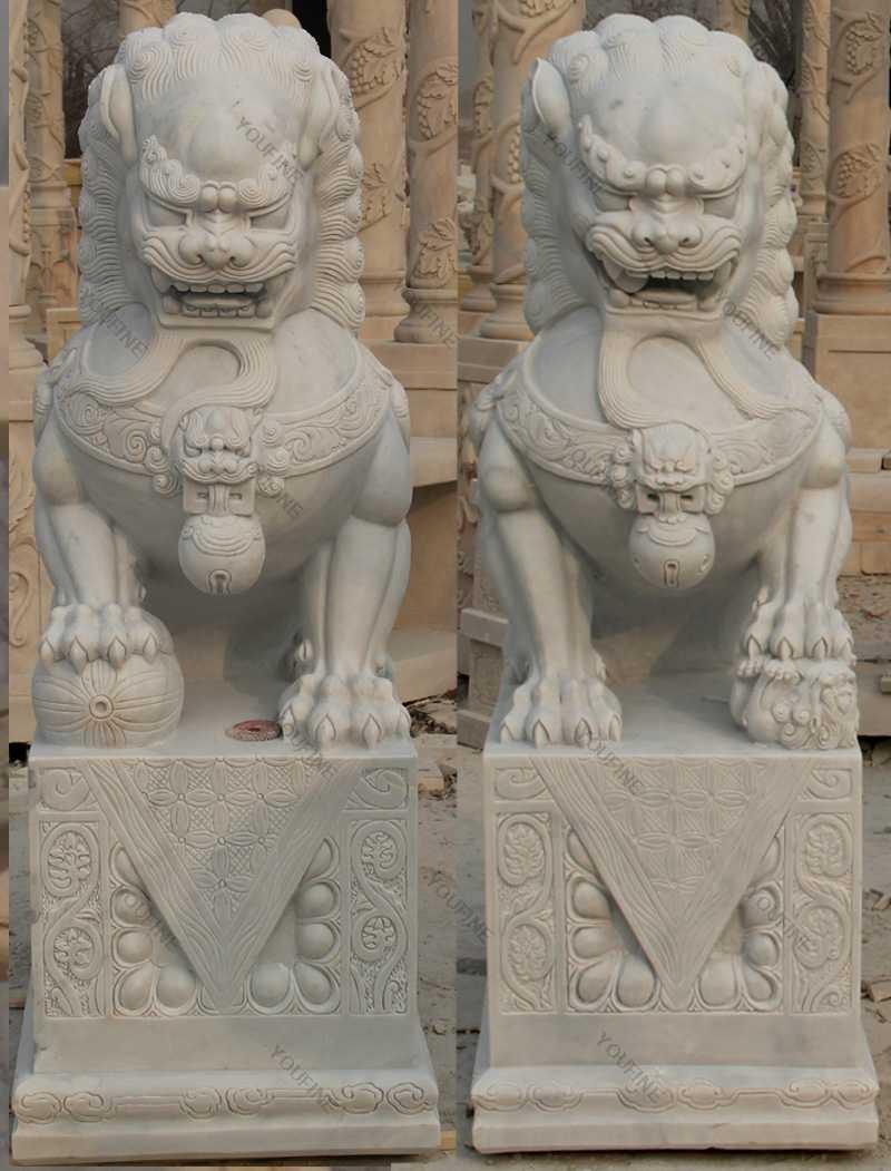 outdoor foo dog statues