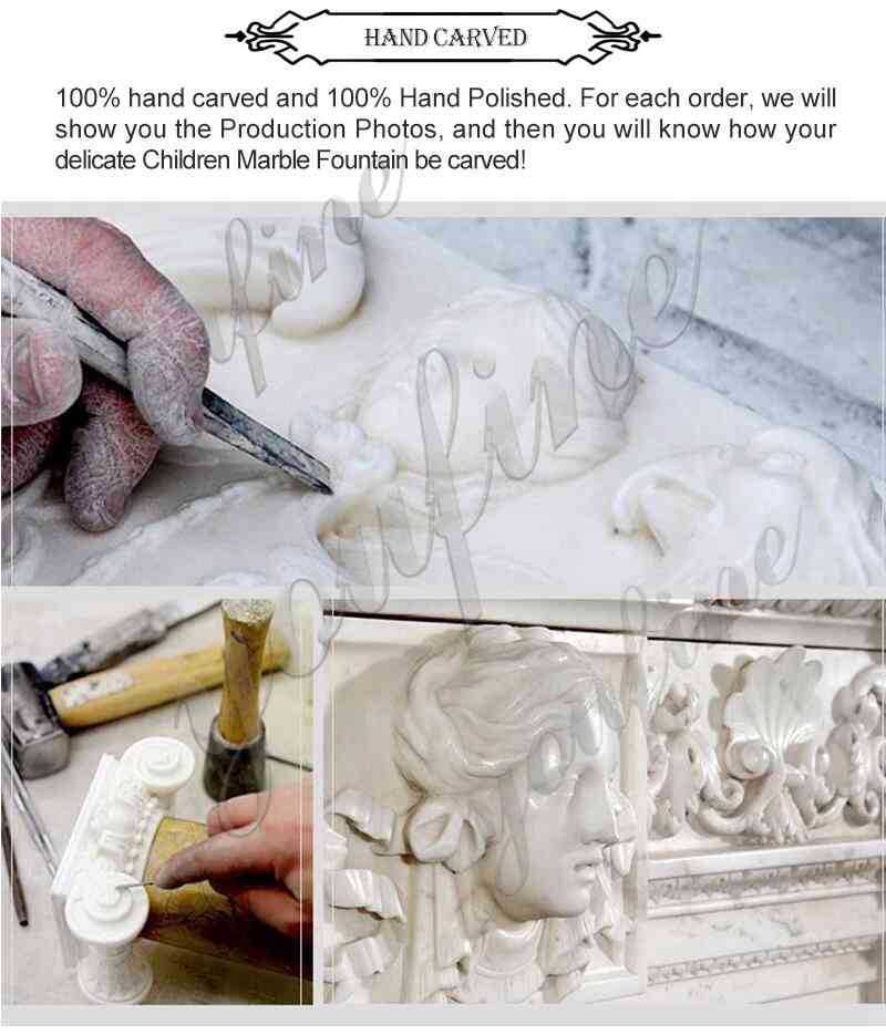 process of Marble Roaring and Standing Lion Statues for Front Porch