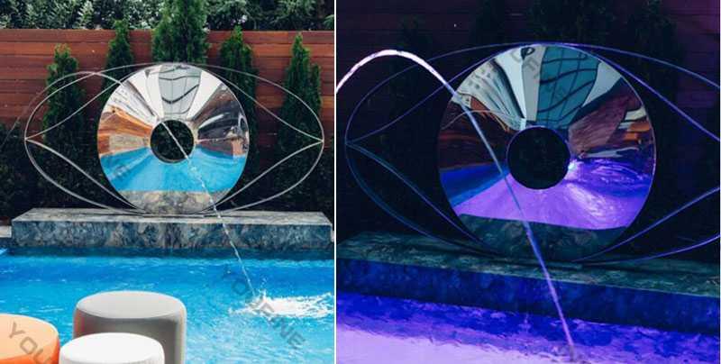 stainless steel modern metal sculpture mirror sculpture metal yard art ideas for sale