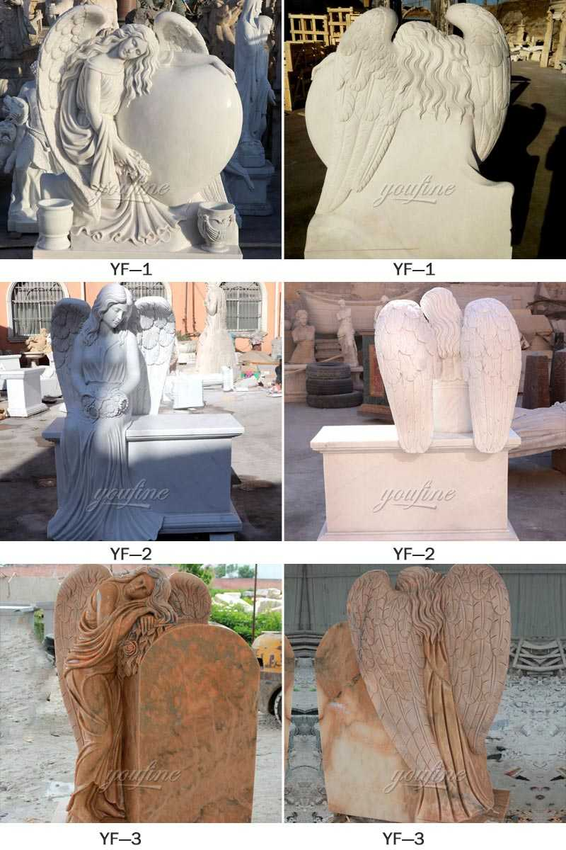 weeping angel headstones for graves for sale