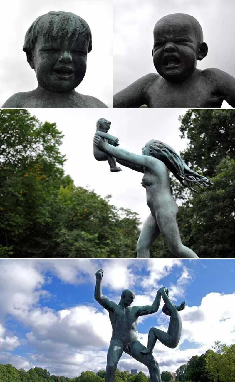 world famous sculpture park Vigeland Sculpture Park