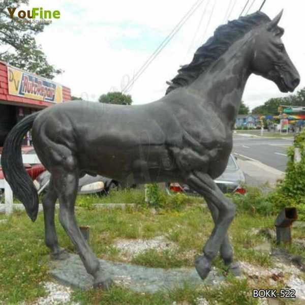 Antique Bronze Horse Garden Ornament Life Size Bronze Horse Statue Design
