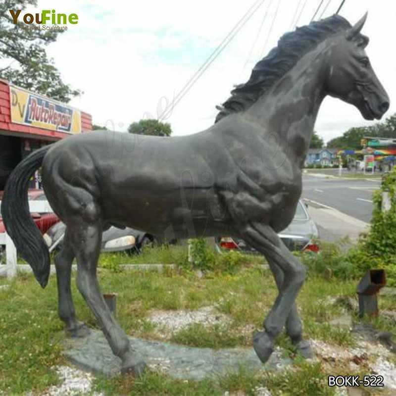 Antique Bronze Horse Garden Ornament Life Size Bronze Horse Statue Design for Garden Decor for Sale BOKK-522