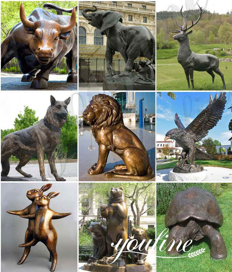 Antique Garden Bronze Gargoyles Statue