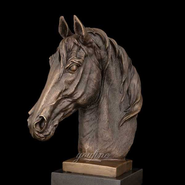 Antique bronze finish horse head bust garden statues for sale