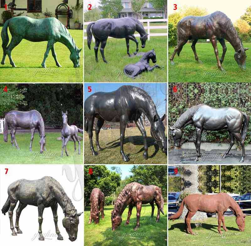 Bronze Mare and Foal Statues for Sale