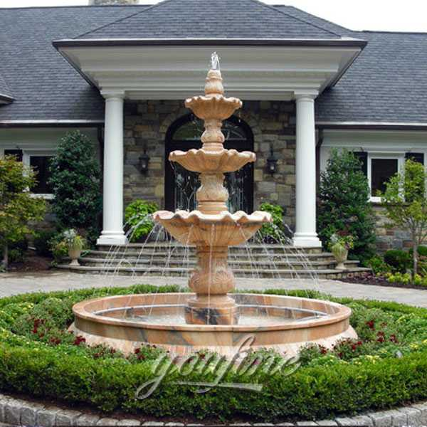 Classical 3 Tiers Antique Water Marble Fountain in the Center of the Garden for Sale  MOKK-126