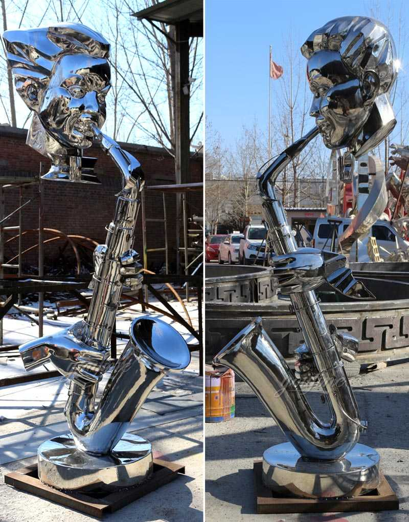 Contemporary high polished outdoor abstract sculptures design for garden decor and yard decor for sale