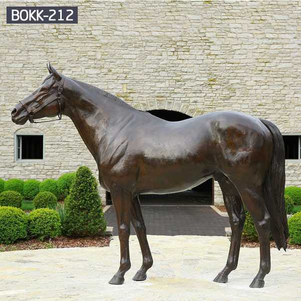 Arabian Horse Statue Life Size Antique Bronze Horse Design for Farm from China Foundry BOKK-212