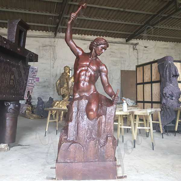 Custom Made Bronze Self Made Man Statue Replica Famous Casting Bronze Figure Statue for Sale BOKK-592