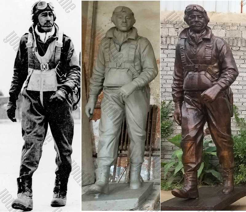 Custom Made Madetuskegee Airmen Statue Monument Replica Life Size Bronze Statue Commissions