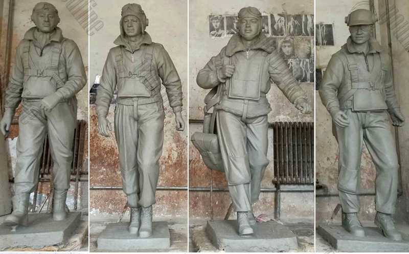 Custom Made Madetuskegee Airmen Statues Monument Replica Life Size Bronze Statue Commission for Our American Friends for Sale