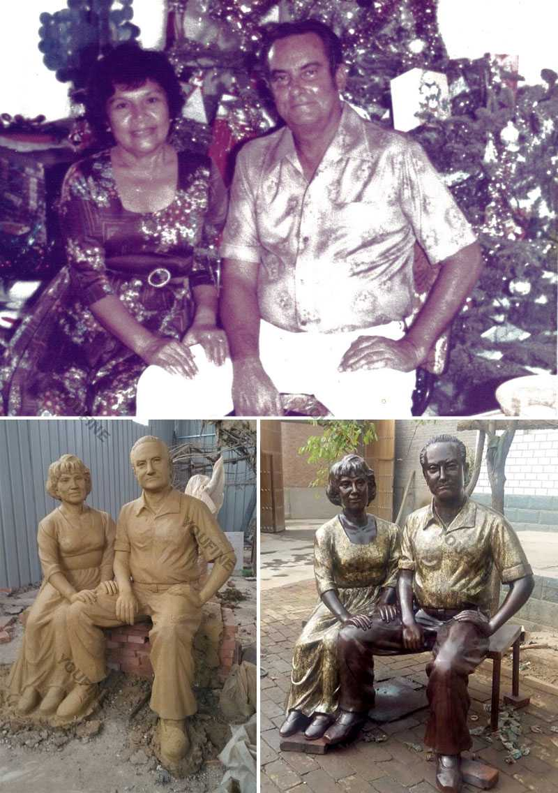 Custom made bronze casting life size figure statues from a photo for sale