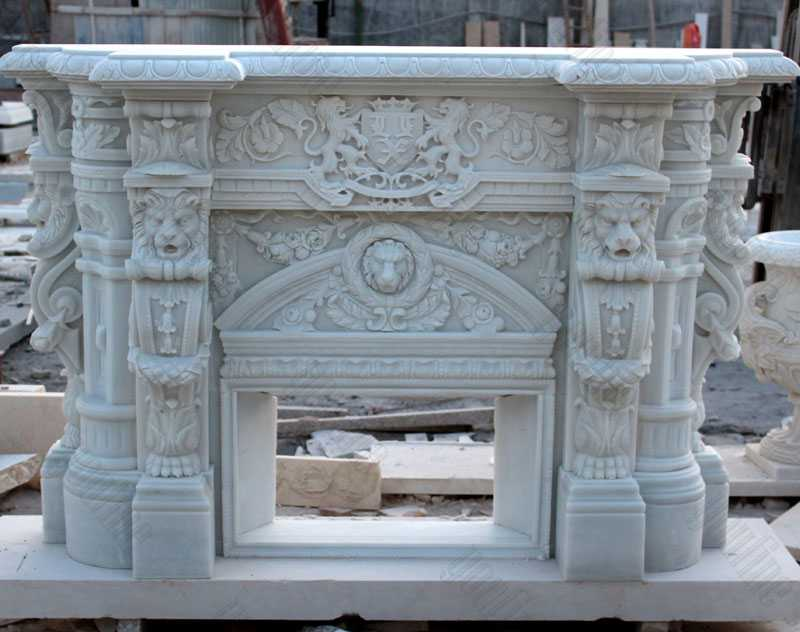 Custom made white marble fireplace mantels for sale craigslist modern stone fireplaces