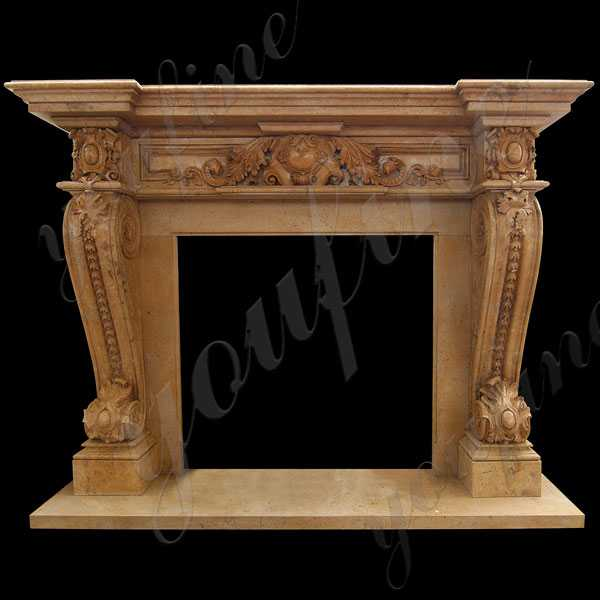 Elegant French Style Marble Fireplace Outdoor Marble Mantelpiece Design for Sale--MOKK-142