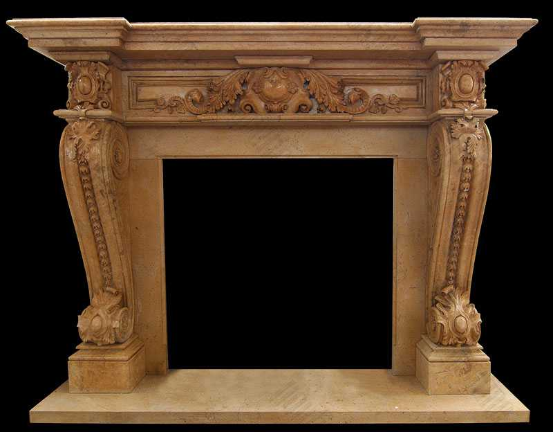 Elegant French Style Marble Fireplace Outdoor Marble Mantelpiece Design for Sale