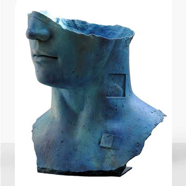 Famous Bronze Sculpture Artist Igor Mitoraj Krakow Igor Mitoraj Sculpture Hollow Head Replica for Sale BOKK-569