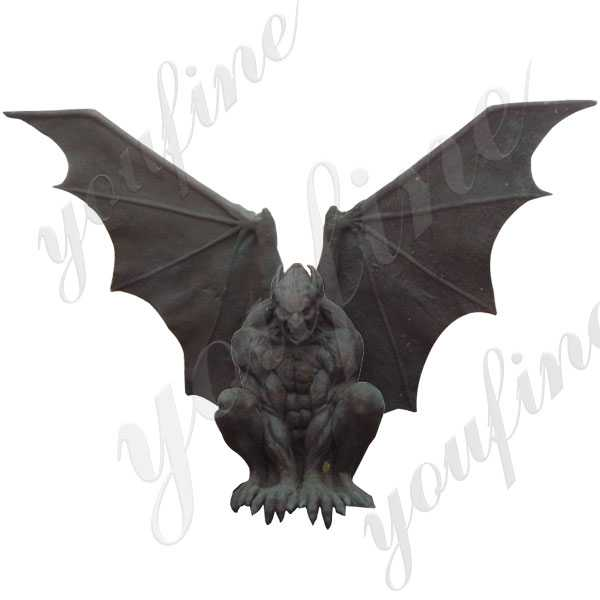 Famous Winged Large Antique Garden Bronze Gargoyles Statue Design for Roof Decor for Sale BOKK-582