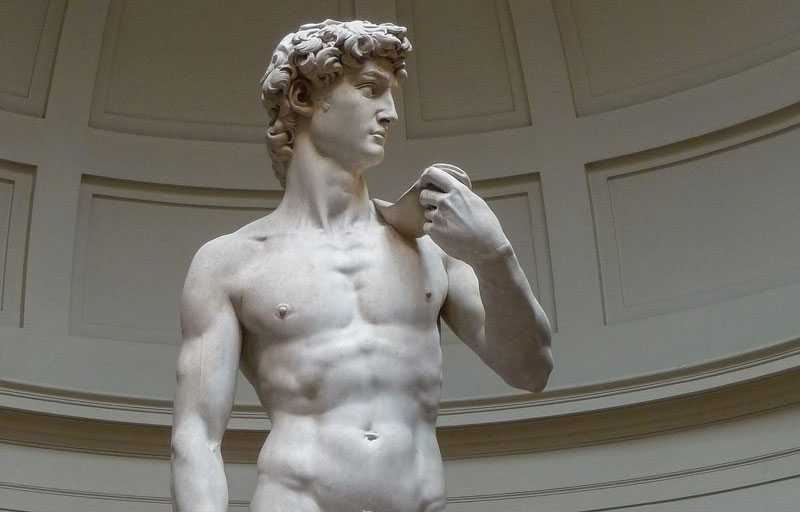 Famous art sculptures life size Michelangelo Sculptures David replica