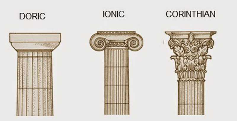 Greek ancient architecture columns