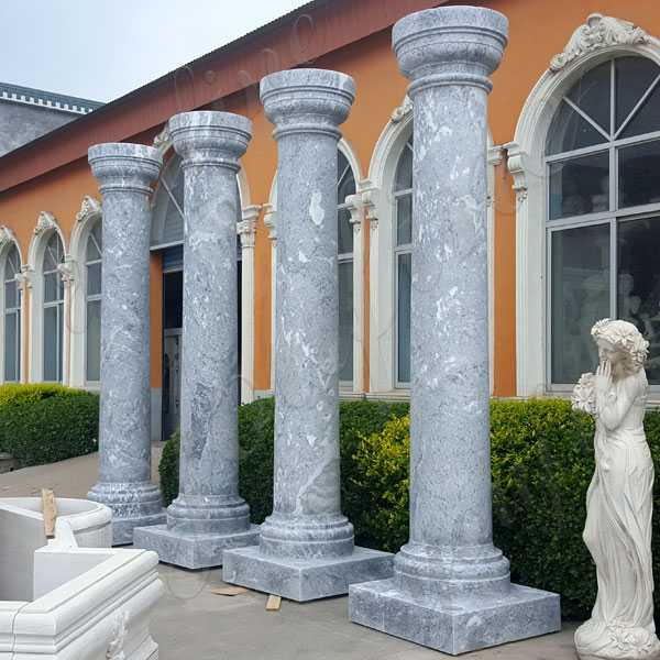 Large Antique Round Marble Column for Sale Doric Order Column for Exterior Houses From Home Depot for Sale MOKK-152