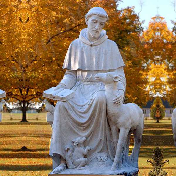 Popular Large Outdoor St Francis of Assisi Statue with Animal Catholic Garden Statue for Sale  CHS-709