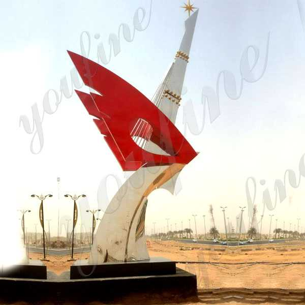 Large Metal Outdoor Sculptures Modern Mirror Polished Stainless Steel Sculpture Ideas for Street Decor for Sale UAE CSS-72