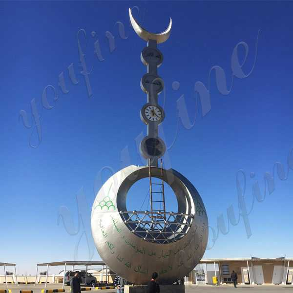 Large Mirror Polished Metal Sculptures for Sale Modern Stainless Steel Sculpture for Sale for Outdoor Decor UAE CSS-68