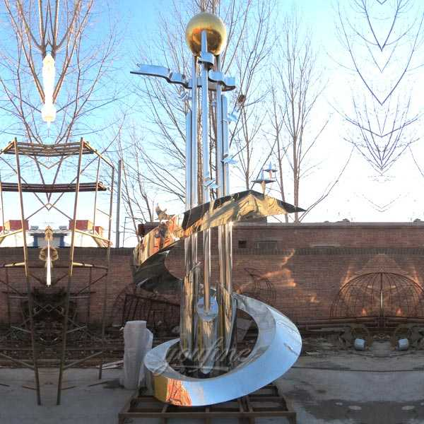 Large Metal Sculptures For Sale High Polished Stainless
