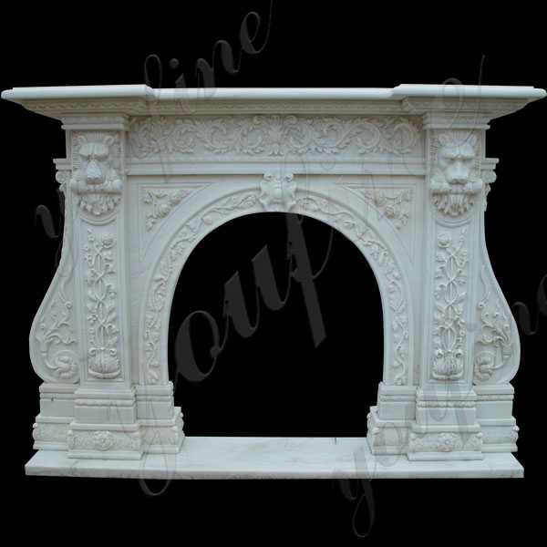 Life Size Custom Made Contemporary Fireplace Mantels and Surrounds Design for Sale--MOKK-130