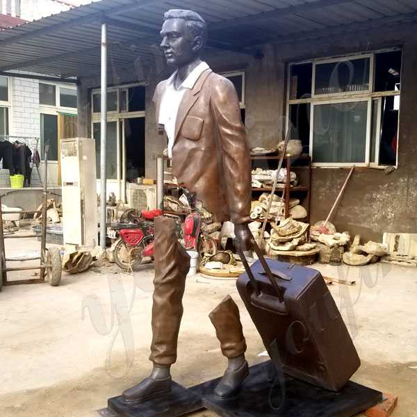 Life Size Custom Made Famous Bruno Catalano Travellers Replica Design in Casting Bronze for Sale BOKK-590