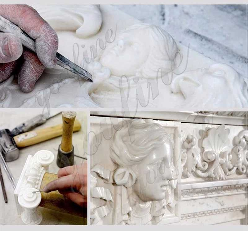 MOKK-159 process of White Marble Greek Figure Statue Column